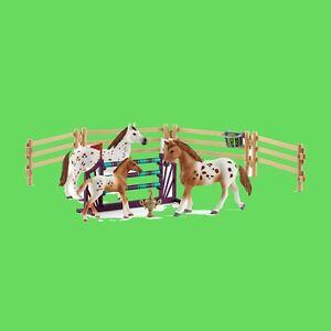 Schleich-Horse-Club-42433-Lisas-Turnier-Training-Blitzversand-per-DHL-Paket