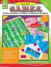 Basic Math Games Grade 3 Lynette Pyne Games Activities and More Free Shipping