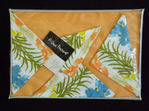 Feder Vera Neumann 8 Stück Platzdeckchen Set 4 4 Servietten Blumenmuster