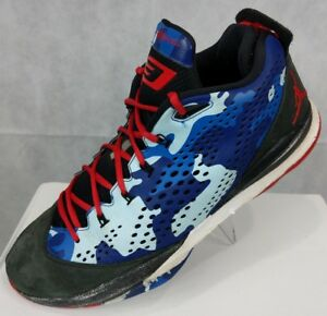 ad19aaf7d61dd6 NIKE JORDAN CP3 VII RED WHITE BLUE CAMO 616805 BASKETBALL SHOES MENS ...