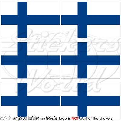 """1.6/"""" Bandera de Finlandia finlandés Suomi 40 mm Teléfono Celular Móvil Mini Pegatinas-Calcomanías x6"""