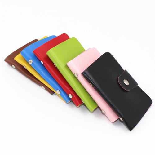 2x in pelle business ID Credito Debito Oyster Card Holder Borsa Custodia Tasca