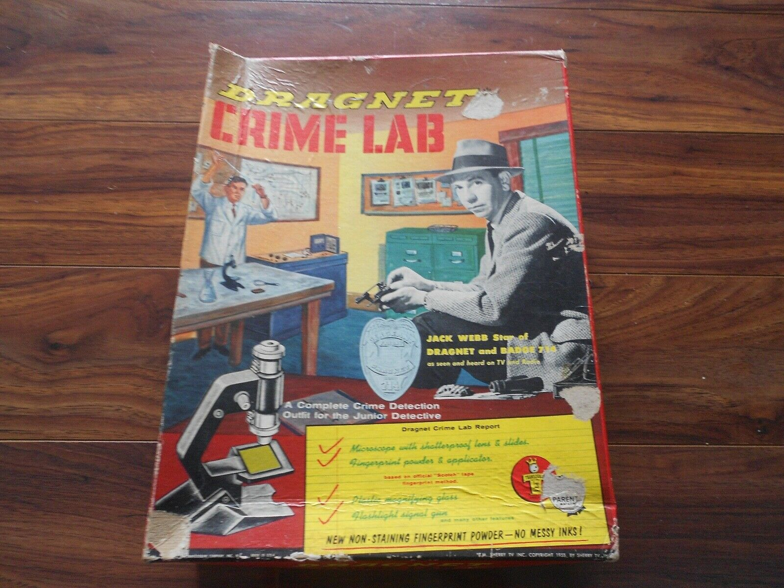 Rare 1955  Dragnet plein crime lab Set  By Sherry TV Inc