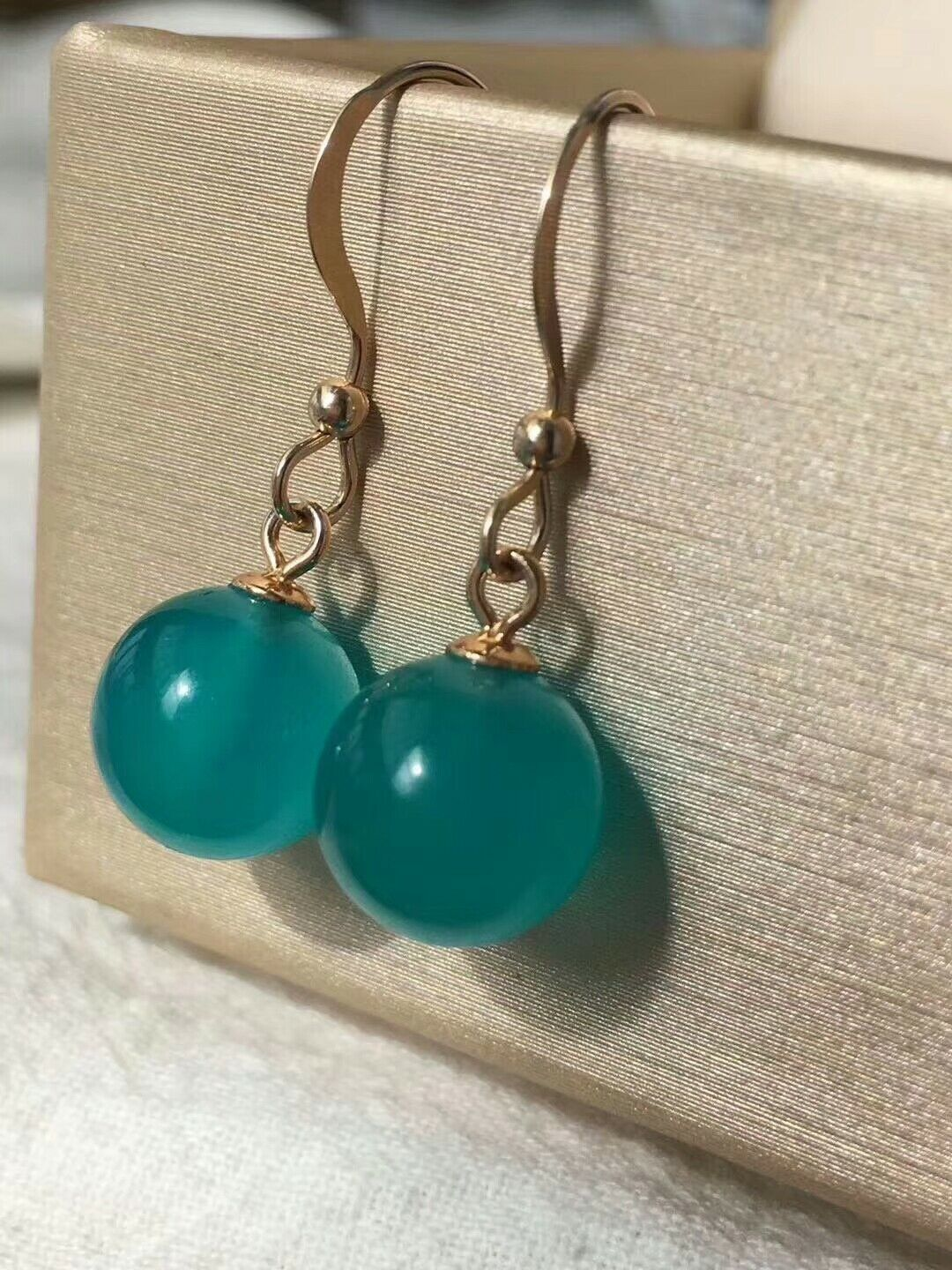 Natural Green Ice Amazonite Gems From Mozambique Earrings 9.5mm AAAA