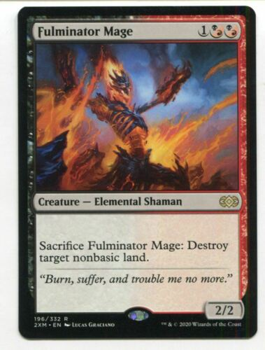 Magic The Gathering MTG Double Masters Card #196 Fulminator Mage