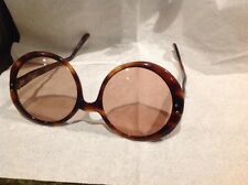 vintage france tortoise shell round sunglasses