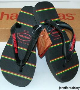 66a56c7b557 Image is loading HAVAIANAS-Genuine-BNWT-Kids-THONGS-FLIP-FLOPS-STRIPES-