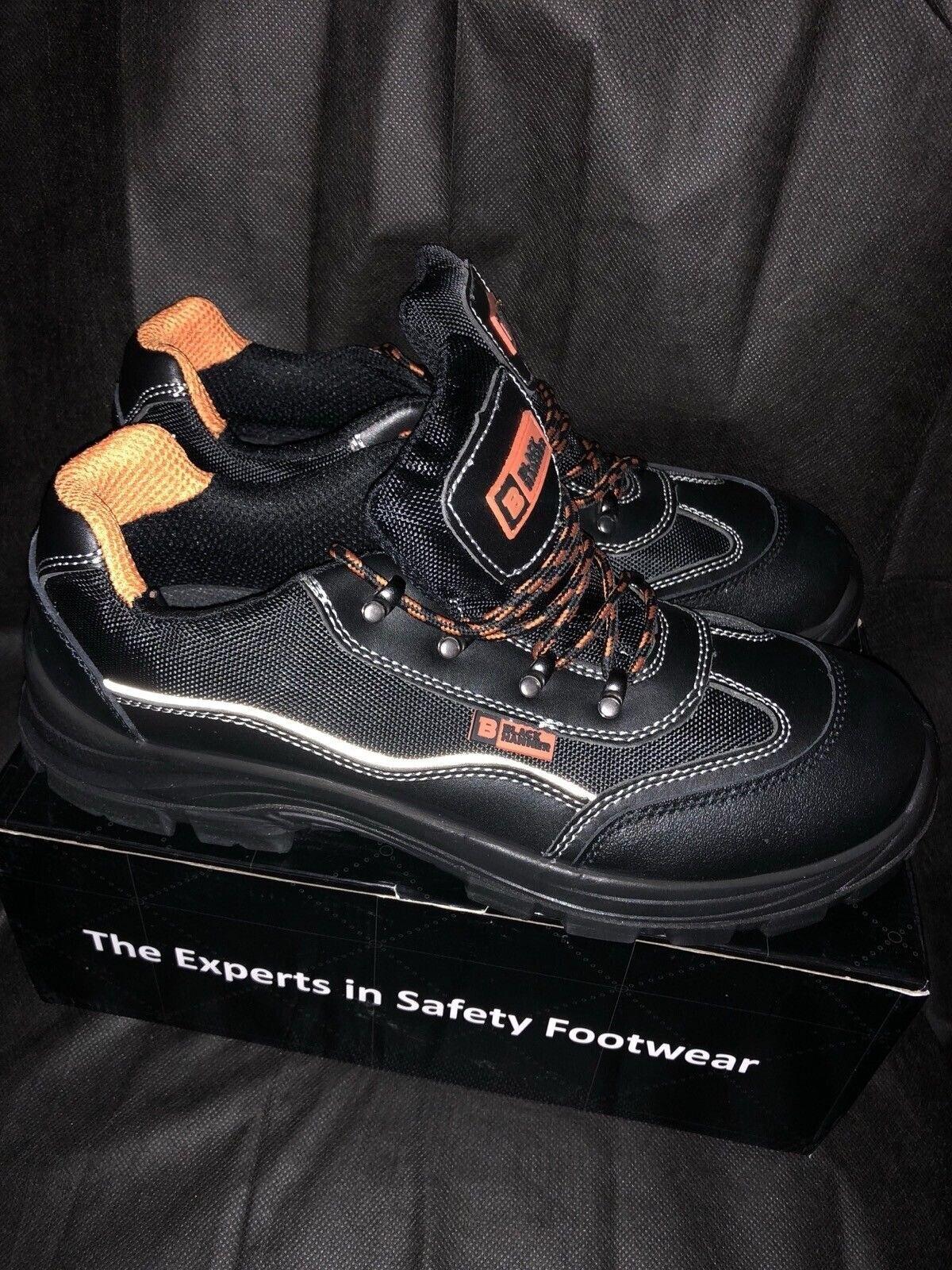 Para Hombre Negro HAMMER Ropa De Trabajo Zapatos Seguridad Puntera De Acero