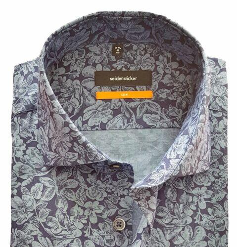 Seidensticker Uno Super SlimSlim Hemd Hemden blau 676300.18