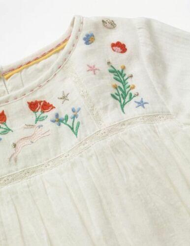 Blumen Neu Alter 2-12 Boden Glänzend Creme Schön Detailliert Gewebt Top Hase
