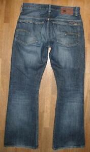 "G- STAR RAW "" 3301 BOOT "" Herren- JEANS / Blue-Jeans in blau W32"" /L32"""