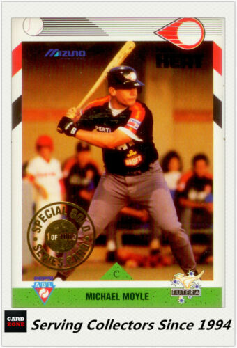 1993 Futera Australia Baseball Limited Edition Gold Card Michael Moyle 11000