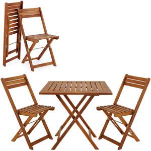 Ensemble table et chaises en bois d´acacia 2 chaises et 1 table ...