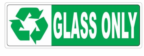Recycle Glass Only Sticker D3664