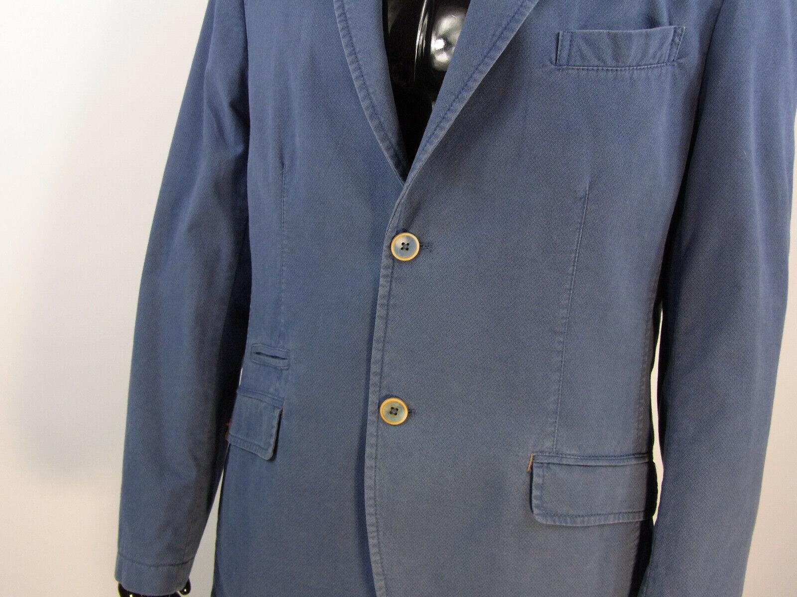 Herren Sakko  Blau Größe 50  100 % Baumwolle Model 30 | Ausgezeichnetes Handwerk
