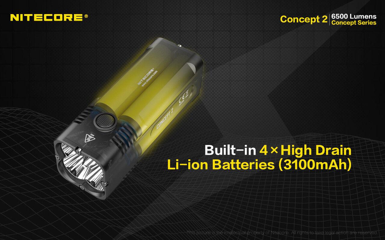 NITECORE Concept 2 Flashlight w/Battery +VCL10 Multi-Tool/USB Car Car Car Adapter bbd8a6