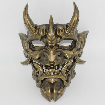 Japanese Prajna Hannya Mask Noh Kabuki Devil Demon Oni Samurai Helmet Wall Decor
