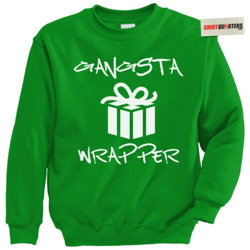 Gangsta Gangster Rapper hip hop Snoop Dogg Christmas tacky party elf Sweatshirt