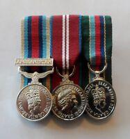 Court Mounted Miniature Medals, Afghanistan, Diamond Jubilee, VRSM, Mini, Ribbon