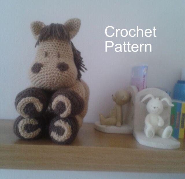 Crochet Pattern Horse Pillow Cushion Soft Toy Amigurumi By Peach