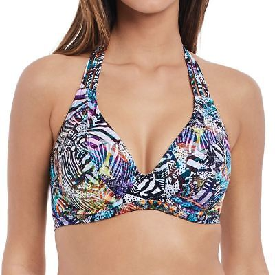 Freya Swimwear Hot in Havana Underwired Banded Halter Bikini Top Multi 2901