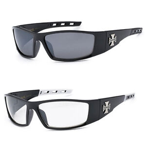 fac0120d37d Image is loading 2-PAIR-COMBO-Chopper-Sunglasses-Motorcycle-Glasses-Smoke-