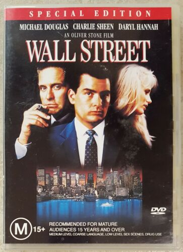 1 of 1 - Wall Street (Michael Douglas & Charlie Sheen) DVD (Region 4)