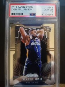 2019-20-Panini-Prizm-248-Zion-Williamson-RC-PSA-10-GEM-MINT