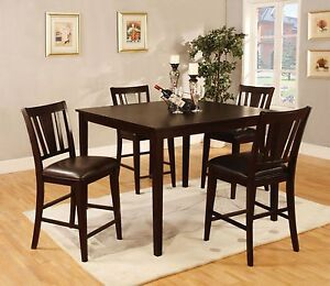 Details about Modern Stylish Parson Chair Dining Room 5p Dining Set  Counterheight Table Chairs