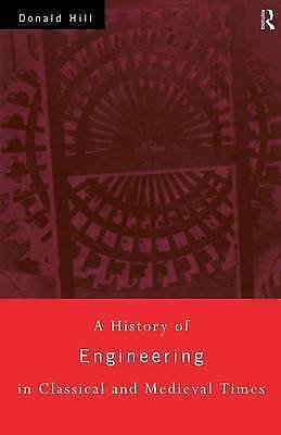 A History of Engineering in Classical and Medieval Times, Hill, Donald, Very Goo