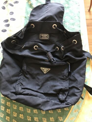 Women's Black Nylon PRADA Backpack