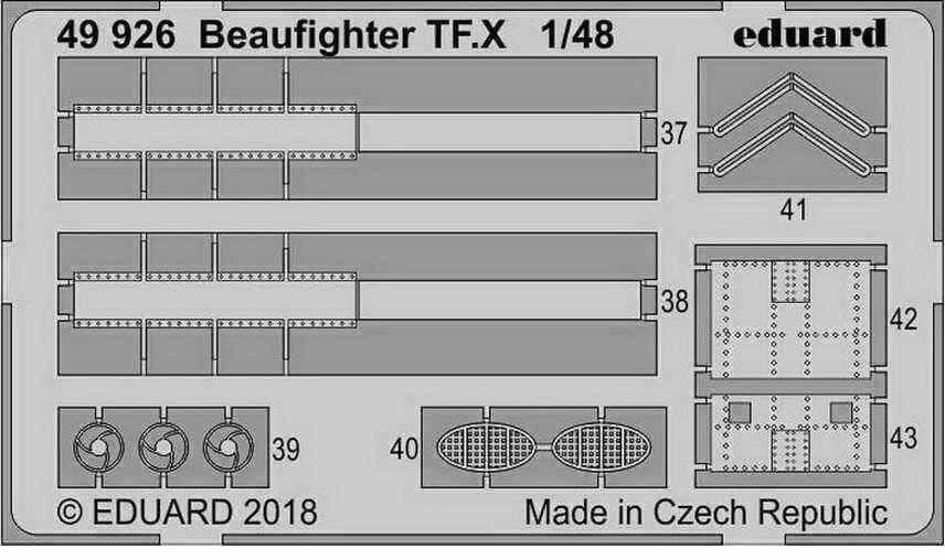 Eduard 1 48 Beaufighter TF.X Detail Set (PE) for Revell kits