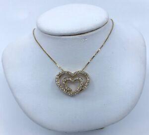 14k-Yellow-Gold-Diamond-Heart-Pendant-Necklace