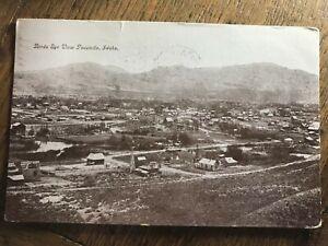 Birds-Eye-Birdseye-Panorama-View-of-Pocatello-Idaho-ID-Postcard