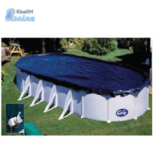 CIPROV501 Copertura invernale Telo Gre per piscine ellisse ovale 500 x 300 cm