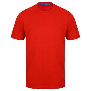 Da-Uomo-T-shirt-A-Maniche-Corte-Girocollo-Casual-Fit-qualita-TEE-T-shirt-Palestra-Comfort