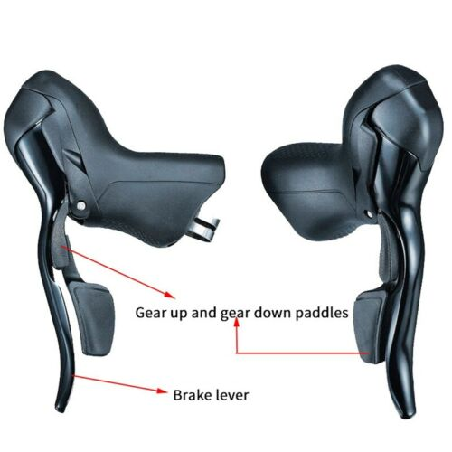 Bike shifter double leviers de commande 3 x Vitesse 8 Voyage Shifters ROAD BIKE SHIFT J7R9