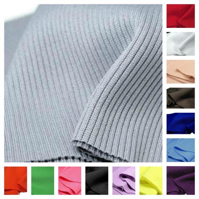 14 cm x 80 cm Elastic Rib Knit Fabric Cuffs Waistband Knitted Fabric Trim Jersey