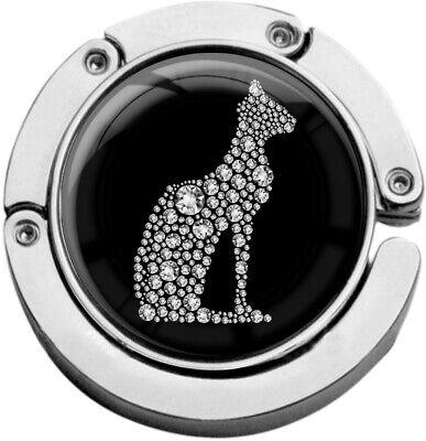 """Metalum Tasche Laccio In Forma Circolare """"gatto In Argento""""-er In Runder Form """"katze In Silber"""" It-it Mostra Il Titolo Originale Crease-Resistenza"""