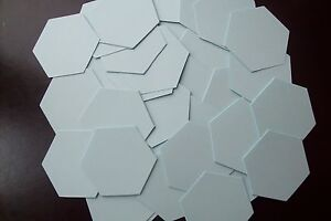 500 x die cut hexagon patchwork 120gsm paper templates all sizes