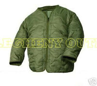 US MILITARY M65 FIELD JACKET COAT LINER NEW M-65 quilted od green LARGE MINT