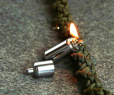 EDC Survival  Waterproof Mini Peanut Capsule Lighter Tiny Key Chain