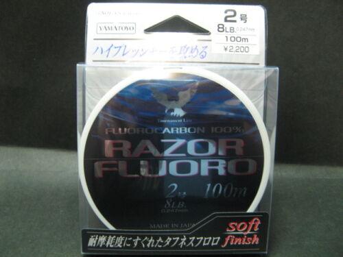 90967 Sale YAMATOYO RAZOR FLUORO 8lb #2 100m soft finish