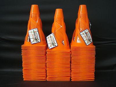 "92 Traffic Safety Sports Football Soccer Skating Game 7"" Flexible Cones Orange"
