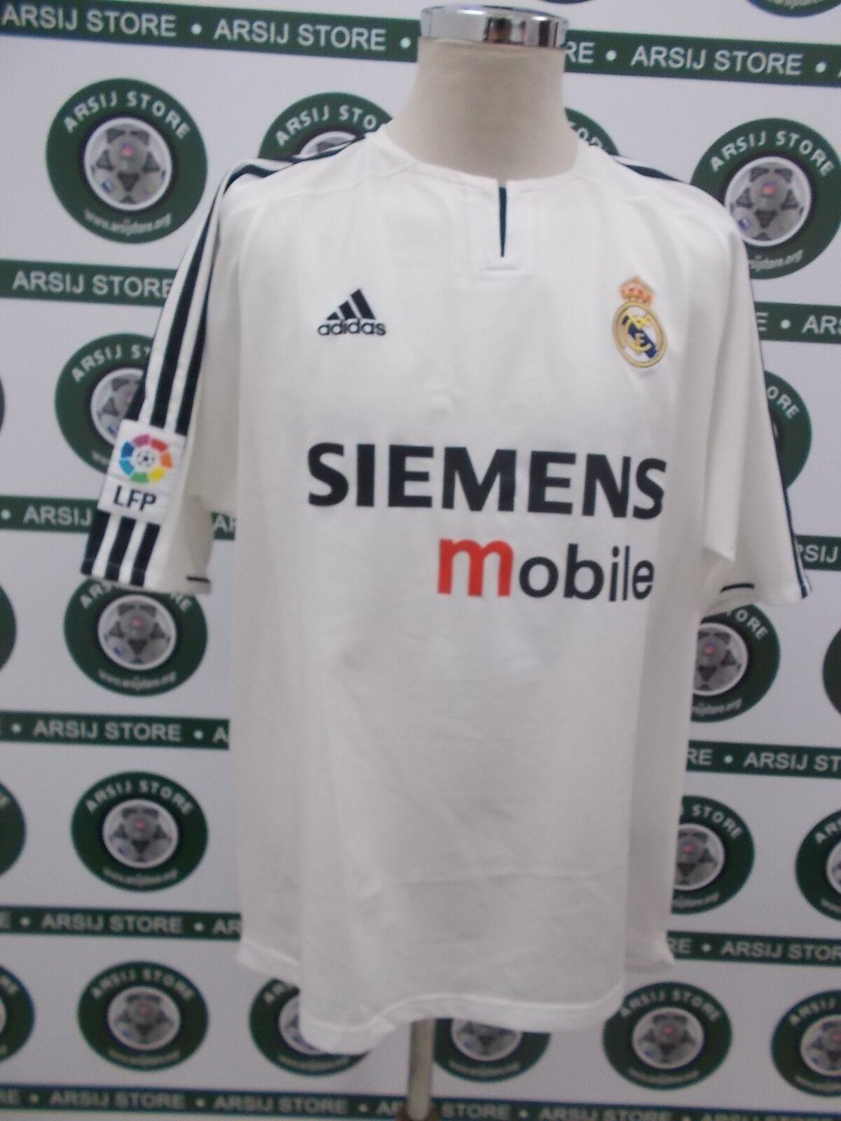 Maglia calcio shirt maillot camiseta trikot REAL MADRID ZIDANE TG XL 2003 04