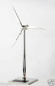 Free-Shipping-Desktop-Model-Solar-Powered-Windmills-Wind-Turbine-amp-Zinc-alloy