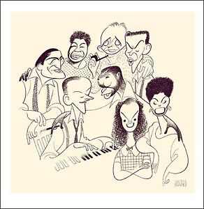 Al-Hirschfeld-039-s-GREAT-AMERICAN-SINGERS-Hand-Signed-Limited-Edition-Lithograph