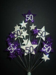 Fabulous Star Birthday Cake Topper Purple White 18Th 21St 30Th 40Th 50Th Personalised Birthday Cards Arneslily Jamesorg