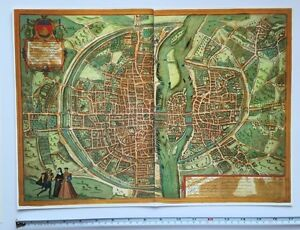 Map Of France 1500.Details About Old Historic Antique Map Paris France 1572 By Braun Hogenberg Reprint 1500 S