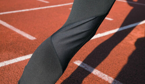 Spiro Herren Laufhose Lang Sporthose S M L XL Trainings Fitness Hose Reflektoren